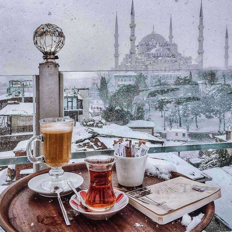 Hagia Sophia Mosque winter 2020